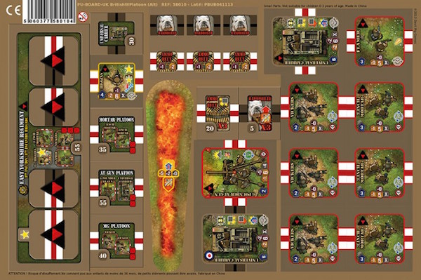Heroes of Normandie uk heavy weapon platoon punchboard