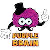 purple brain creations logo